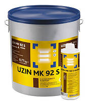 Uzin MK 92 S dunkel (dark) 8,54 кг, 2-х компонентный тёмный полиуретановый клей для тёмного паркета