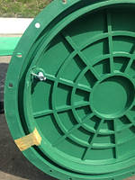 """Люк """"садовый"""" полимерный зеленый, нагрузка 1,5 т., фото 1"""