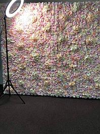 Фотозона из цветов пастельных полиуретан и ткань искусственный размер 200*220см