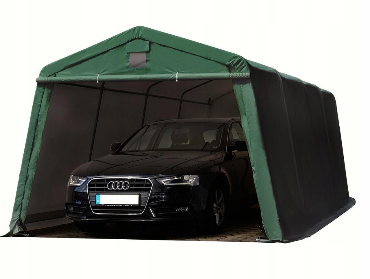 Павильон гаражный 3,3x8,4 м ПВХ 550 г/м² (Зеленый)