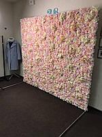 Аренда Фотозона из цветов пастельных полиуретан и ткань искусственный размер 200*240см, фото 2