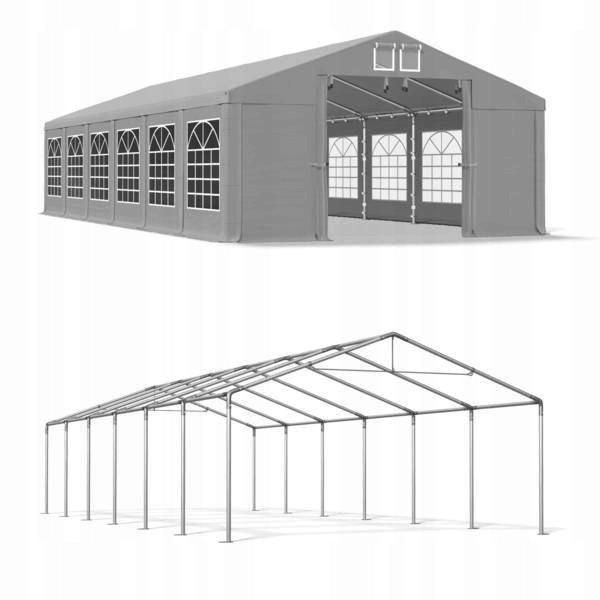 Весільний павільйон, торговий, гаражний 6x12 м ПВХ 560 г/м2