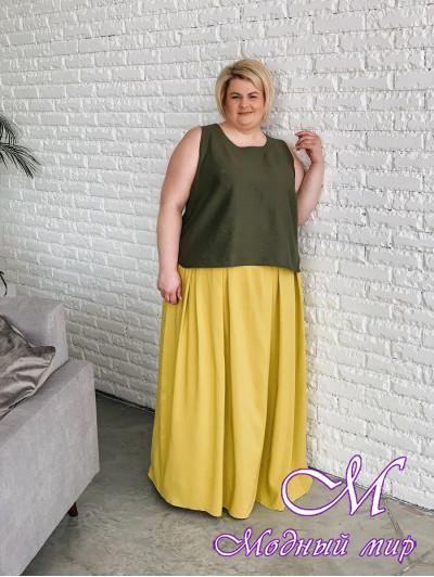 Женская длинная летняя юбка (р. 42-90) арт. Нэлли