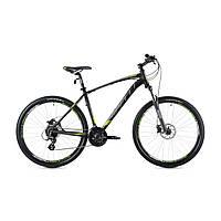 """Велосипед найнер Spelli SX-4700 650B 27.5"""" (черно-зеленый с черным)"""