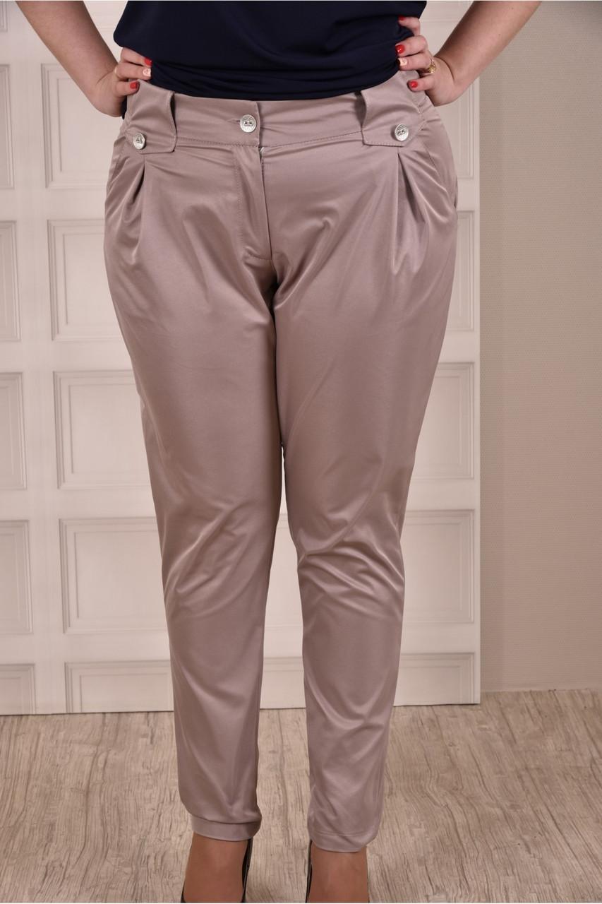Бежеві штани 015 великий тразмер