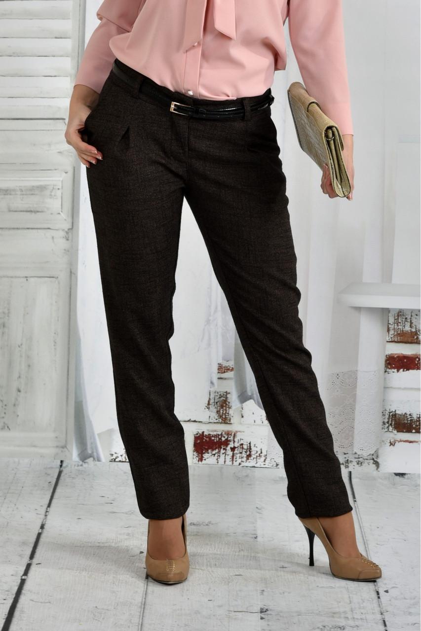 Коричневые брюки большого размера 42-74