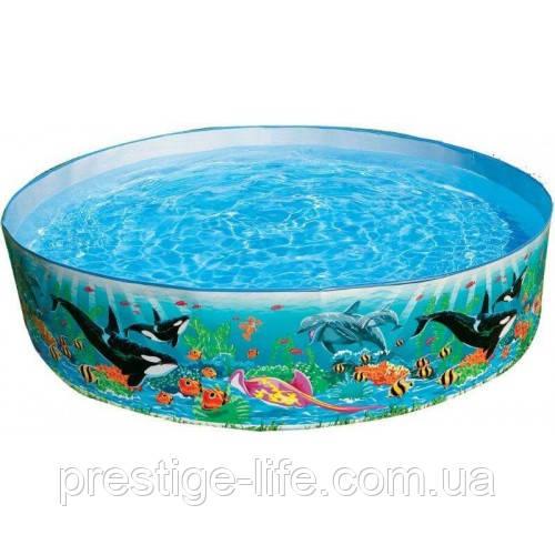 """Intex детский бассейн """"Океанский риф"""" Размер 244х46 см. 2089 литров."""