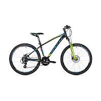 """Велосипед кросс-кантри Spelli SX-4700 26""""  (черно-синий с зеленым)"""
