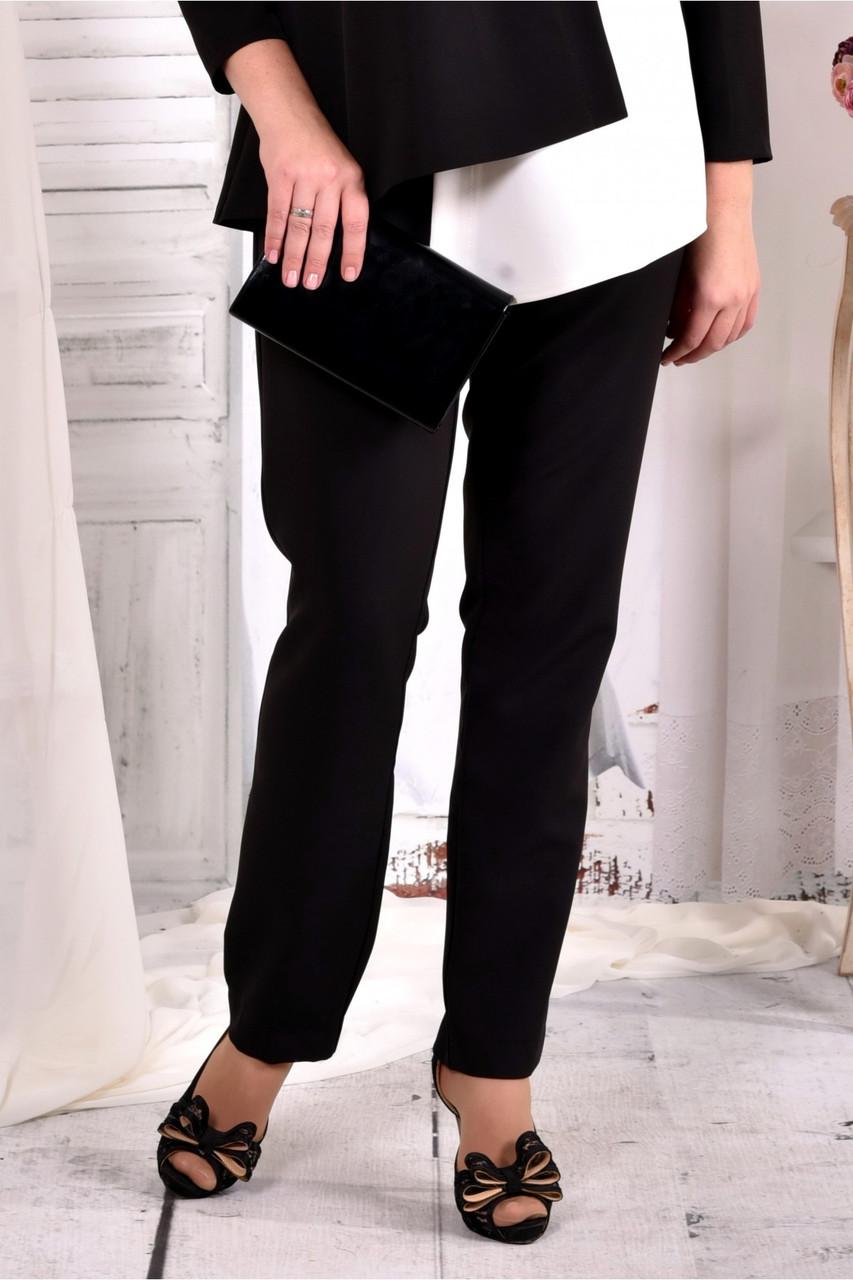 Черные деловые брюки большого азмера 42-74.  b030-1