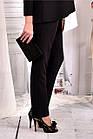 Черные деловые брюки большого азмера 42-74.  b030-1, фото 3