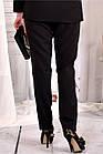 Черные деловые брюки большого азмера 42-74.  b030-1, фото 4