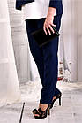 Сині стильні штани 030-2 (ідеально в комлекті з блузкою 0565-2), фото 2