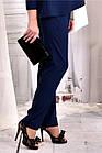 Сині стильні штани 030-2 (ідеально в комлекті з блузкою 0565-2), фото 3