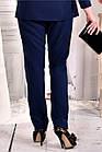 Сині стильні штани 030-2 (ідеально в комлекті з блузкою 0565-2), фото 4