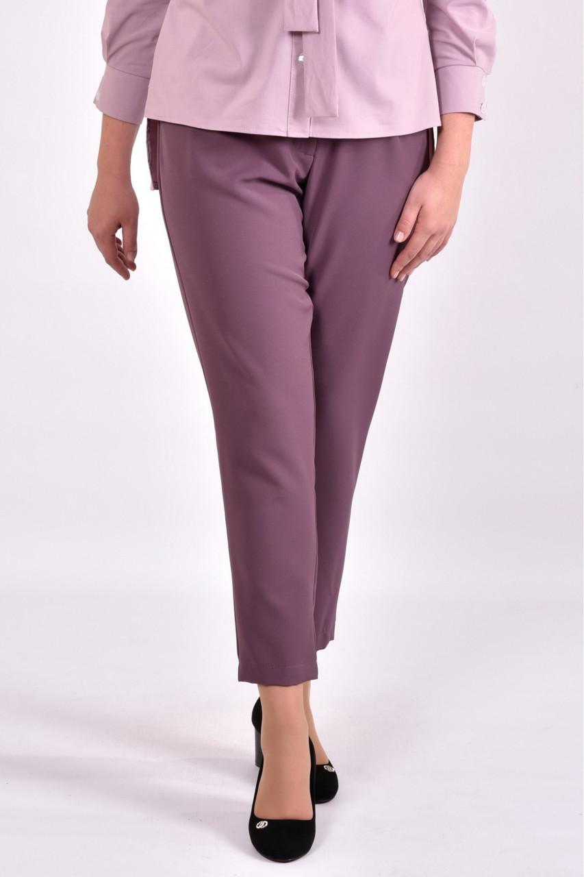 Бисквитные стильные брюки женские по щиколотку большой размер 42-74. b031-1