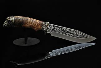 Художественное травление на клинке ножа, фото 2