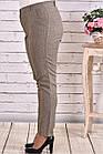 Горчичные брюки женские офисные прямые большой размер b029-2, фото 3