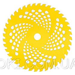 Нож для мотокос Vitals 40-зубчатый Желтый (57252)