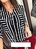 Блузка женская в полоску  барх352
