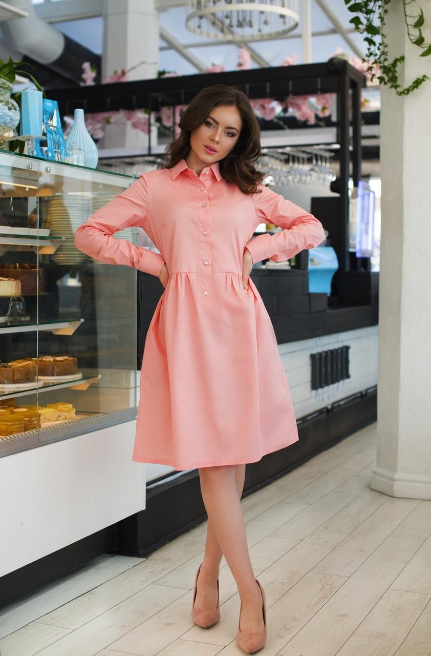 Платье-рубашка свободного фасона