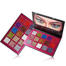 Профессиональная палитра теней 15 цветов блестящие, фото 2