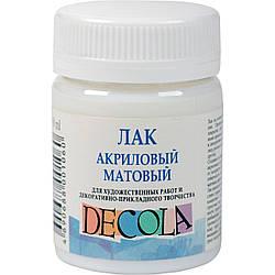 Лак акриловий матовий ДЕКОЛЬ, 50 мл