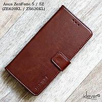 Кожаный чехол-книжка с магнитной застежкой для Asus ZenFone 5 (ZE620KL)