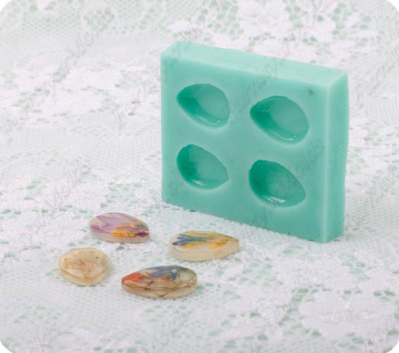 Силиконовый молд на 4 миниатюрных капли