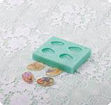 Силиконовый молд на 4 миниатюрных капли, фото 3