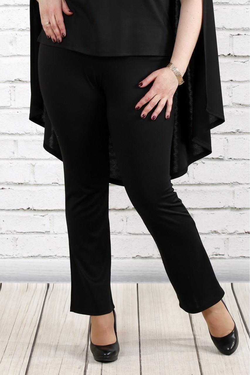 Чорні трикотажні штани великого розміру 42-74.   b037-1