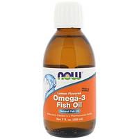 Рыбий жир с лимонным вкусом, Now Foods (200 мл/ 40 порций)