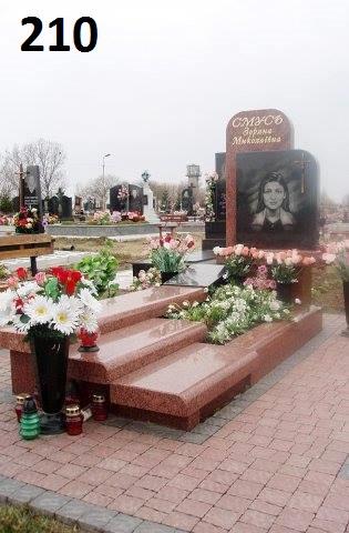 Пам'ятник на на могилу із граніту закритий квітник з каменю
