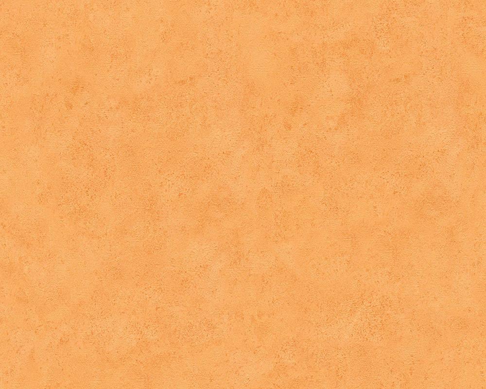 Обои бумажные одноцветные оранжевые 758828
