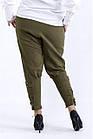 B041-1   Вільні зручні штани хакі великий розмір, фото 4