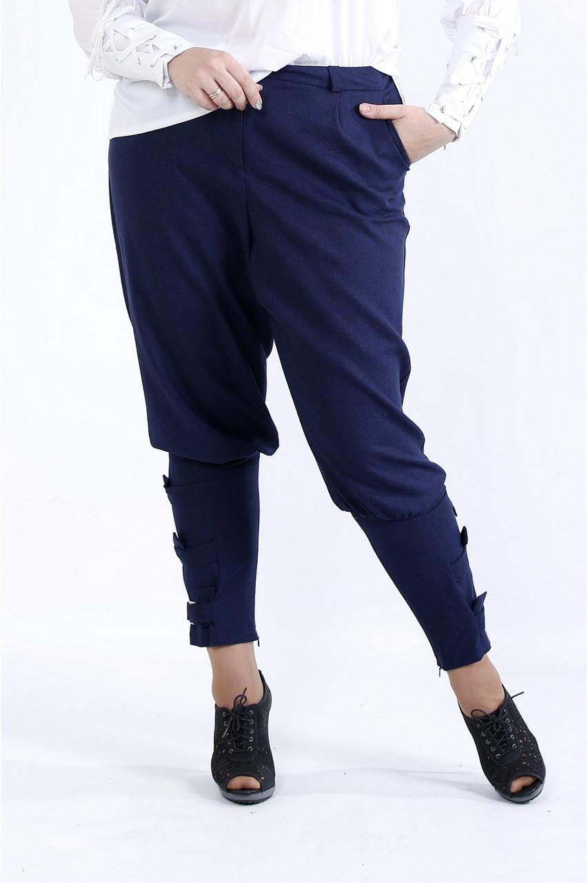 B041-3   Сині зручні штани великий розмір