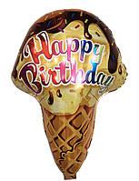 """Фольгированный шар фигура """"Мороженое в вафельном стаканчике"""", 69*47 см"""