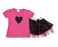 Комплект летний для девочки футболка и юбка