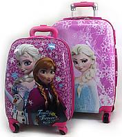 """Комплект два чемодана детских 20""""+16"""", «Josef Otten» Холодное Сердце, двухсторонняя картинка, 520451"""