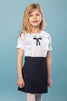 "Синяя школьная юбка в складку для девочки ""Санди"" (116-146р)"
