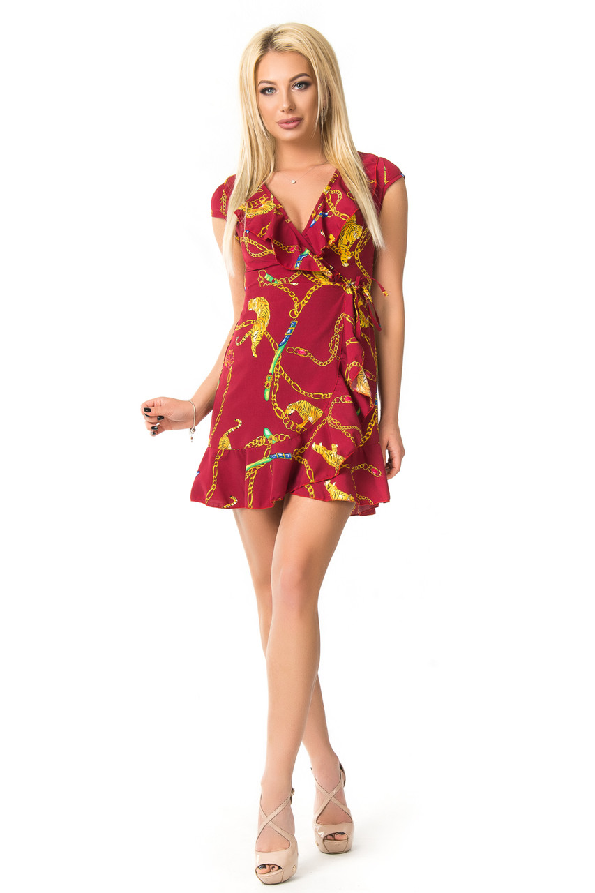 Красивое платье с золотыми цепочками 42-48