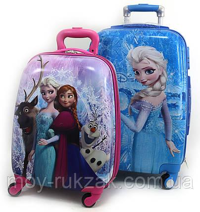 """Комплект два чемодана детских 20""""+16"""", «Josef Otten» Frozen, двухсторонняя картинка, фото 2"""
