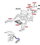Решетка вентиляции багажника, Kia Optima 2010-15 JF, 975103v000, фото 3