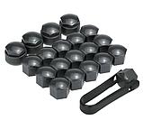 Набір ковпачків на колісні гайки 17 мм з секретними болтами, чорні, фото 9