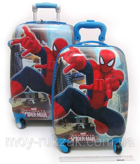 """Комплект два чемодана детских 20""""+16"""", «Josef Otten» Человек Паук, двухсторонняя картинка"""