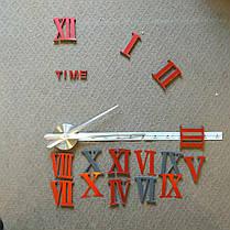 """Годинники настінні червоні діаметр від 80см до 1 метр 20см """"римські 3D годинник великі"""", фото 3"""