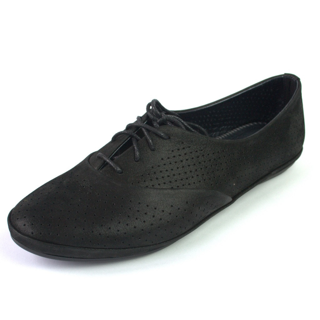 Балетки летние кожаные черные женская обувь больших размеров LaCoSe V Black Night Leather by Rosso Avangard BS