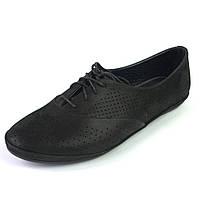 Балетки летние кожаные черные женская обувь больших размеров LaCoSe V Black Night Leather by Rosso Avangard BS, фото 1