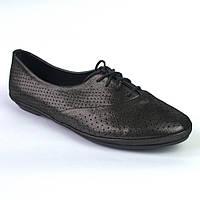 Балетки летние кожаные черные женская обувь большой размер LaCoSe V Black Purple Leather by Rosso Avangard BS, фото 1