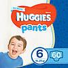 Подгузники-трусики детские Huggies Pants для мальчиков 6 (15-25 кг), 60 шт