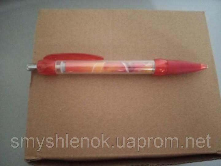 Ручка шариковая автоматическая с синей пастой брендированные ТМ Алокозай